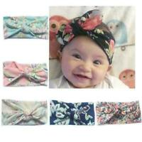 Baby Toddler Girls Kids Bunny Bow Rabbit Knot Turban Hair Band Headband D2D0