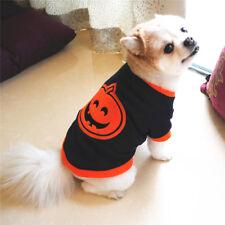 Chihuahua Yorkie Small Dog Pet Fleece Clothes Halloween Pumpkin T-shirt Pet Tops