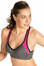 Naturana Women's In Motion Sports Bra Style 5349 Grey / Pink / Black, 38C