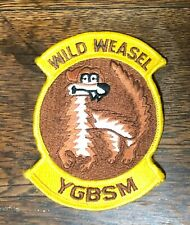 Usaf Wild Weasel Ygbsm Patch Pre-Owned