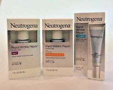 3 Neutrogena Rapid Wrinkle Repair Items Eye + Day SPF30 + Night  Expires 3/2020