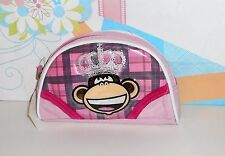 Bobby Jack Monkey King Cosmetic Bag Purse Pink NWT