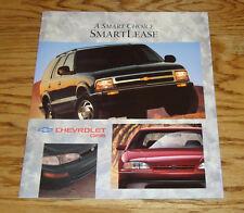 Original 1997 Chevrolet & Geo SmartLease Smart Lease Sales Brochure 97 Corvette