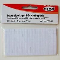 Doppelseitige Klebepads - 3D-Pads - 5 x 5 mm - 1 mm dick - 400 Pads