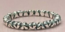 2x Size 5 PANDORA Sterling Silver Forever Love Hearts Ring 190837 Retired