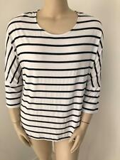 ROCKMANS SIZE XL BLACK WHITE STRIPED TOP NEW WITH TAG