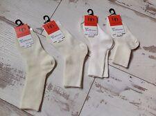 P18-19 - Chaussettes DORE DORE (DD) NEUVES - Mi chauss fil Ecru  (8.50€)