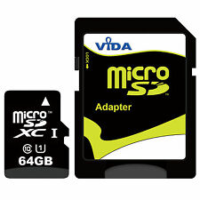 64GB Micro SD SDXC Memory Card For Samsung Galaxy S5 S7 edge S8 Plus Class UHS-I