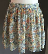 Cute COTTON ON Floral Print Full Short Skirt Size M (12)