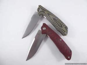 Pocket knife, EDC, Folding knife, D2 steel with G10 Handle, Tassie Tiger Knives
