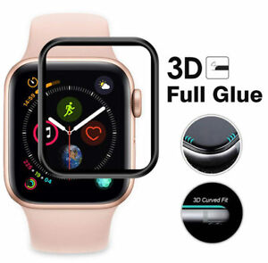 2X For iWatch SE 4/5/6 40mm/44mm Full Cover Full Glue 3D Curved Tempered Glass