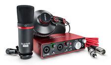 Focusrite Scarlett 2i2 Studio (2nd Gen) -- Earphones, Microphone, USB Recording