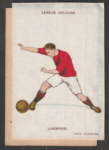 GODFREY PHILLIPS Postcard size silk football club colours LIVERPOOL FC