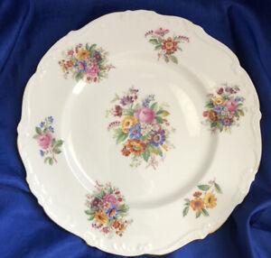Coalport Bone China Fragrance Dinner Plate Vintage Floral Pattern Gold Trim