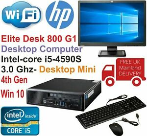 HP EliteDesk 800 G1 USFF Core i5-4590S @3.00GHz 8GB 240GB SSD Win10 Professional