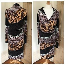 Animal Print Dress Plus Size 24 Wrap Jungle Leopard Flattering Stretchy Party