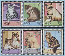 LAOS N°505/510** chats TB, 1983 cats SC#493-498 MNH