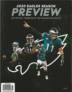 2020 Philadelphia Eagles Official Yearbook Season Preview NFL Football NM