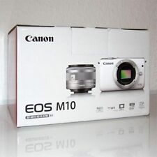 CANON EOS M10 Kit Schwarz inkl. IS STM 15-45mm Objektiv, Systemkamera, NEUWARE