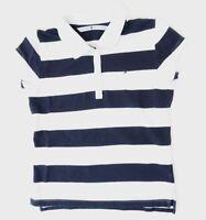 Tommy Hilfiger Poloshirt Damen Gr.S blau uni Piquè -S1218