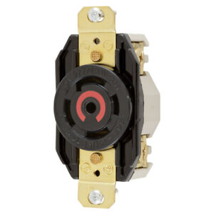 HUBBELL HBL2820 Twist-Lock Flush Receptacle 480VAC 30A 4-POLE 3-PHASE 5-WIRE