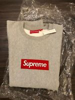 Supreme New York 100% Authentic Box Logo Crewneck in Gray
