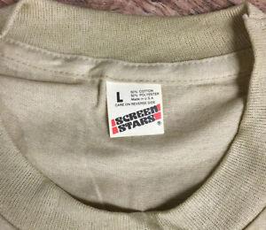 Vintage Screen Stars T-Shirt Blank Plain Deadstock LG Tan Soft Thin USA