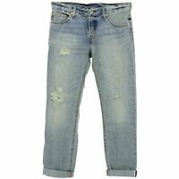 21888 LEVIS Damen Damen Jeans Hose 501 CT Cropped Tapered blue vintage blau