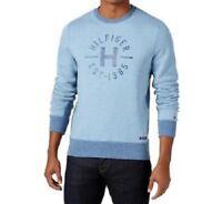 Tommy Hilfiger New Men's Chad Fleece Sweatshirt, Coronet Blue Heather, XXL