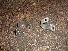 Suzuki RE5 RE 5 Rotary right and left front brake hose clamp brackets re-plated