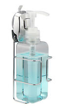 500ml Soap/Shampoo Dispenser - Smart Suction Cup Wall Mounted Chrome Hanger