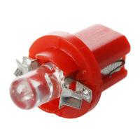 10x AMPOULE LED COMPTEUR TABLEAU DE BORD B8-5D T5 avec support ROUGE TUNING a 3M