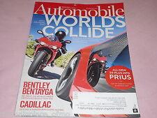 Automobile Magazine March 2016 Bentley Bentayga Cadillac Prius Audi Mercedes