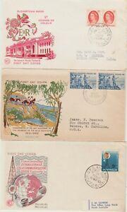 Australia 3 FDC1963 Blue Mts Crossing,'65 QEII 5d,'65 ITU on Wesley cachet cover