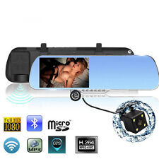 "5.0"" Android 4.4 Car GPS Navigation Rearview MirrorAllwinner A33 1080P Car DVR"