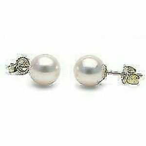 925 Sterling Silver Natural Certified 2.25 cart Pearl Gold Plated Earing