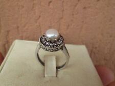 anello argento 925 stile antico perla