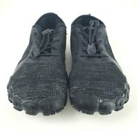 TSLA Mens Trail Running Minimalist Barefoot Shoe BK40 Blackout Size 9