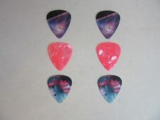 GUITAR PLECTRUMS PICKS X 6 0.71MM FLORAL/PINK PEARL/UNIVERSE