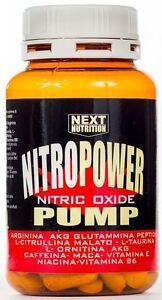 Nitro Power Pump Stimolante Ossido Nitrico con Arginina AKG Ornitina AKG 120 cpr