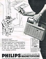 PUBLICITE ADVERTISING  1963   PHILIPS   magnétophone