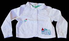 New Crazy 8 White Denim Crop Embroidered Snap Jacket Size 4-5 Year NWT Girls