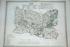 60 Oise gravure carte  Dufour Duvotenay 1860 (75-7)