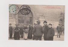 Carte Postale. Grève de Limoges 17 avril 1905. Portail Prison défoncé