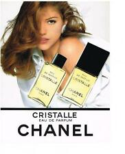 PUBLICITE ADVERTISING  1993  CHANEL  eau de parfum   CRISTALLE