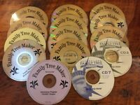 Mixed Lot of 14 Family Tree Maker Deluxe Records Ancestry Software Discs CDs