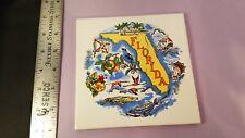 Collectible Souvenir Florida Decorative Wall Hanging Ceramic Tile