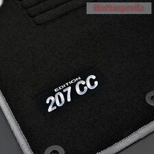 MP Velours Fußmatten Edition si für Peugeot 207 CC Cabrio 207CC ab Bj.02/2007 -