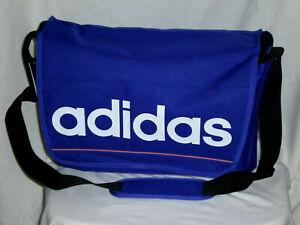 ADIDAS Umhängetasche Airliner Shoulder Bag PC Schule D88459 28X45X15 Blau/Lila