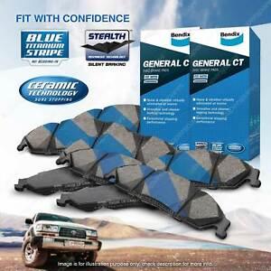 8Pcs Bendix GCT Brake Pads Set for Hyundai Accent RB 1.6 90 91 94 103 kW FWD